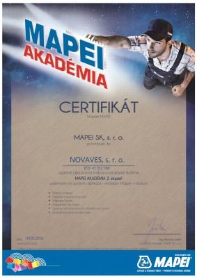 Certifikát MAPEI